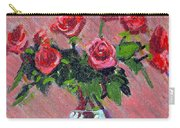 Roses On Pink Carry-all Pouch