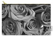 Roses On Your Wall Black And White  Carry-all Pouch