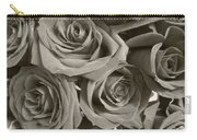 Roses On Your Wall Sepia Carry-all Pouch