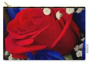 Roses - Red White And Blue Carry-all Pouch