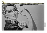 Rosie In Black And White Carry-all Pouch