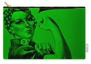 Rosie In Green Carry-all Pouch