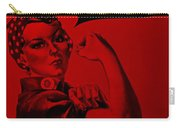 Rosie In Red Carry-all Pouch