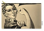 Rosie In Sepia Carry-all Pouch