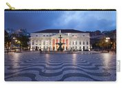 Rossio Square At Night In Lisbon Carry-all Pouch