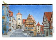 Rothenburg Germany Carry-all Pouch by Mike Rabe