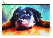 Rottie Puppy By Sharon Cummings Carry-all Pouch by Sharon Cummings
