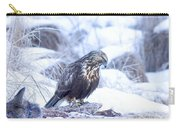 Rough Legged Hawk On Deer Carcass Carry-all Pouch by Gregory K Scott
