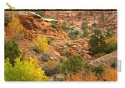Rough Terrain In Autumn Along Zion-mount Carmel Highway In Zion Np-ut Carry-all Pouch
