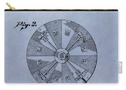 Roulette Wheel Patent Carry-all Pouch