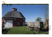 Round Barn Wooden Wagon Carry-all Pouch