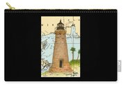 Round Island Lighthouse Ms Nautical Chart Map Art Carry-all Pouch