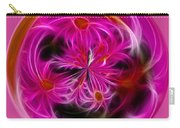 Round Pink And Pretty By Kaye Menner Carry-all Pouch