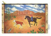 Round Up And Cattle Brands Carry-all Pouch