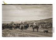 Rounding Up Cattle In Cornville Arizona Sepia Carry-all Pouch