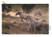 Rounding Up Horses On The Ranch Carry-all Pouch