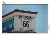 Route 66 - End Of The Trail Carry-all Pouch by Kim Hojnacki