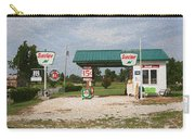 Route 66 Gas Station With Sponge Painting Effect Carry-all Pouch