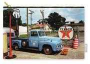 Route 66 - Gas Station With Watercolor Effect Carry-all Pouch by Frank Romeo
