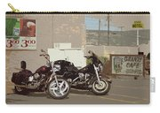 Route 66 Motorcycles With A Dry Brush Effect Carry-all Pouch