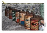 Route 66 Odell Il Gas Station Oil Cans Digital Art Carry-all Pouch