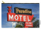 Route 66 - Paradise Motel Carry-all Pouch by Frank Romeo