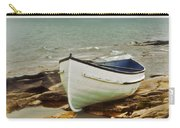 Row Boat On Rocky Shore Carry-all Pouch
