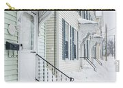 Row Houses On A Snowy Day Carry-all Pouch by Edward Fielding