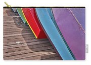 Row Of Colorful Boats Art Prints Carry-all Pouch