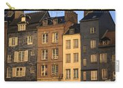 Row Of Houses. Honfleur Harbour. Calvados. Normandy. France. Europe Carry-all Pouch