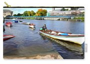 Rowing On The River - Irish Art By Charlie Brock Carry-all Pouch