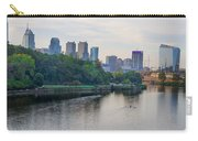 Rowing On The Schuylkill Riverwith Philadelphia Cityscape In Vie Carry-all Pouch