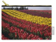Rows Of Multicolored Tulips In Field Mount Vernon Washington Sta Carry-all Pouch