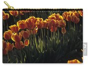 Rows Of Orange Tulips In Field Mount Vernon Washington State Usa Carry-all Pouch