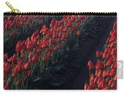 Rows Of Red Tulips Carry-all Pouch