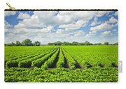 Rows Of Soy Plants In Field Carry-all Pouch by Elena Elisseeva