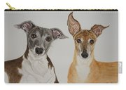 Roxie And Bruno The Greyhounds Carry-all Pouch