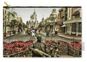 Roy And Minnie Mouse Antique Style Walt Disney World Carry-all Pouch