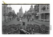 Roy And Minnie Mouse Black And White Magic Kingdom Walt Disney World Carry-all Pouch