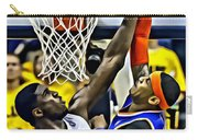 Roy Hibbert Vs Carmelo Anthony Carry-all Pouch by Florian Rodarte