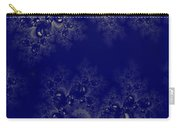 Royal Blue Frost Fractal Carry-all Pouch