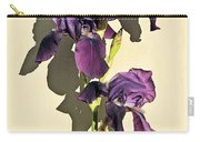 Royal Purple Iris Still Life Carry-all Pouch