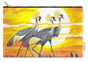 Royal Cranes From Rwanda Carry-all Pouch
