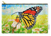 Royal Monarch Butterfly In Daisies Carry-all Pouch