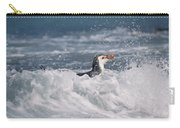 Royal Penguin Swimming In Surf Carry-all Pouch