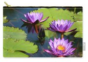 Royal Purple Water Lilies Carry-all Pouch