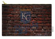 Royals Baseball Graffiti On Brick  Carry-all Pouch by Movie Poster Prints