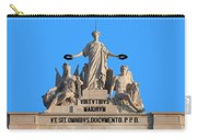 Rua Augusta Arch Statues In Lisbon Carry-all Pouch