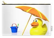 Rubber Duck At The Beach Carry-all Pouch