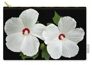 Ruby Dot Hibiscus Carry-all Pouch